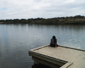 Lady on a dock