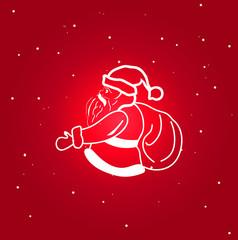 Santa Claus icon. isolated symbol