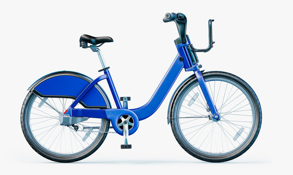 City Bicycle Bikeshare. Isolated on white background with clipping path.