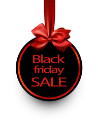 Round black friday sale background.