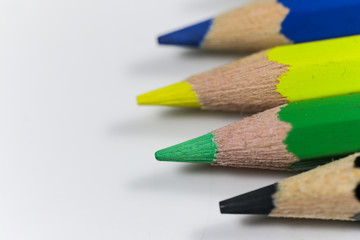 Colored pencil for school and students