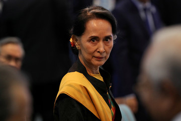 Myanmar State Counselor Suu Kyi attends the opening session of the 31st ASEAN Summit in Manila