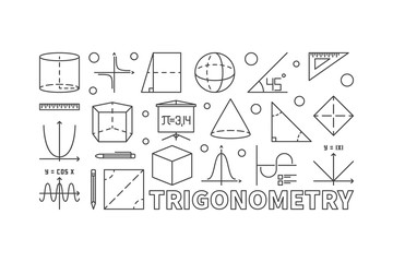 Trigonometry and math minimal illustration