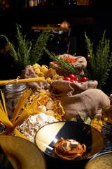 Ingredients for cooking Italian food