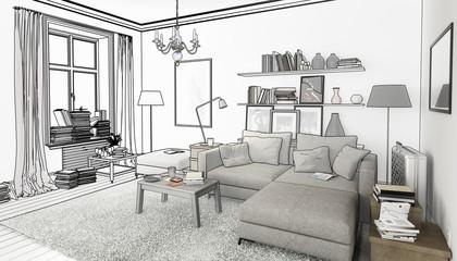 Bücher Im Wohnzimmer, Einrichtung Und Dekoration (Planung)
