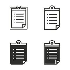 Registration icon set.