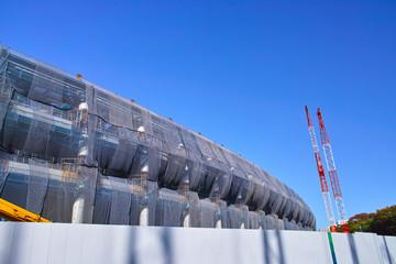 Fotobehang Stadion 建設中の新国立競技場