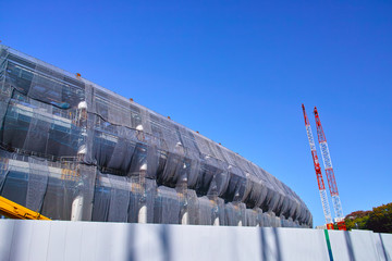 Foto op Canvas Stadion 建設中の新国立競技場