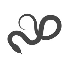 Reptile snake flat icon for animal apps