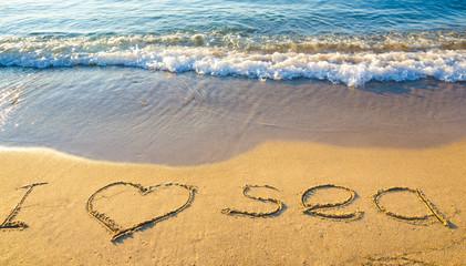 I love sea on beach