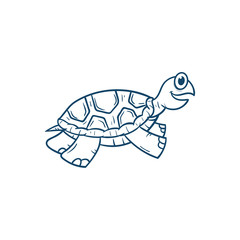 cute turtle cartoon vector illustration