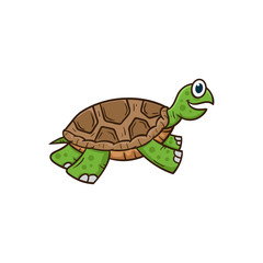 cute turtle cartoon vector illustration