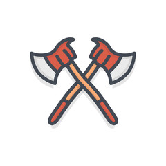 Firefight service colored icon axe