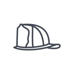Firefight service line icon helmet hat
