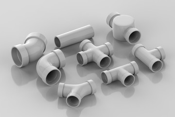 set of pipe joints