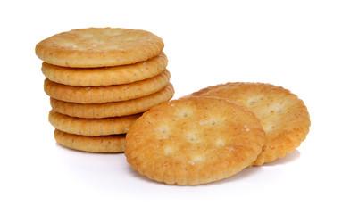 Wheat cracker on white