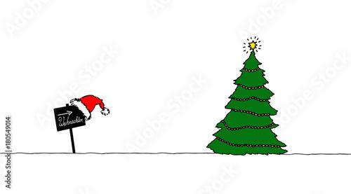 weihnachtsbaum mit schild stockfotos und lizenzfreie. Black Bedroom Furniture Sets. Home Design Ideas