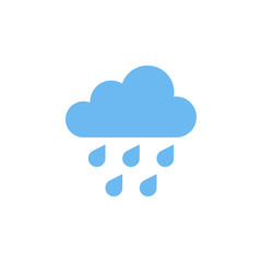 Rain Icon isolated on grey background.