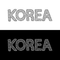 Korean Alphabet Letters Background, Vector illustration