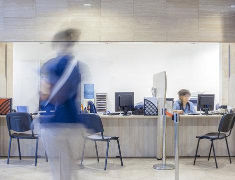Registration Hospital Bank Customs Desk