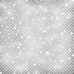 snowfall on transparent background