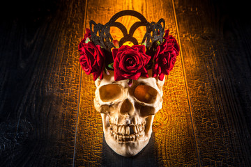 Cult of Santa Muerte. Skull in the style of the Cult of Santa Muerte