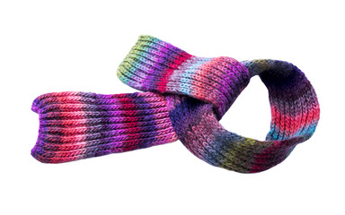 Multi-colored winter scarf.