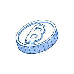 bitcoins icon  vector