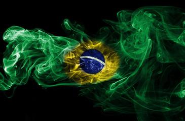 Brazil flag smoke