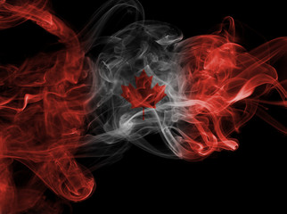 Canada flag smoke