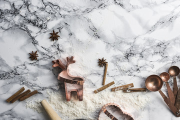 Making Gingerbread with Rose Gold Cookie Cutters