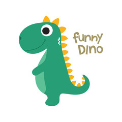 Cute dino illustration