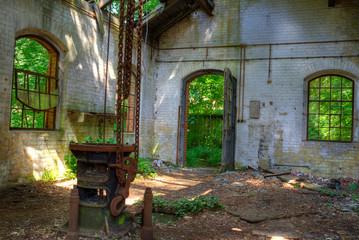 Tür und Fenster Ruine Fototapete