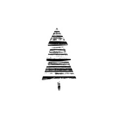 Vector textured Christmas tree