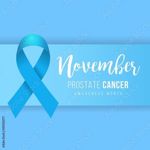 Prostate Cancer Blue Awareness Ribbon Background Prostate Cancer