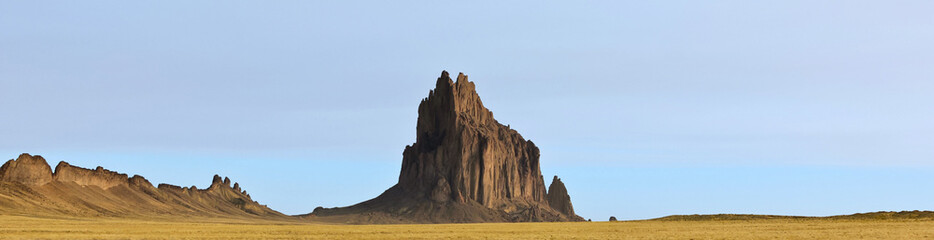 A Panorama of Shiprock in New Mexico Wall mural