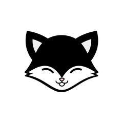 Cute Wolf Vector Icon