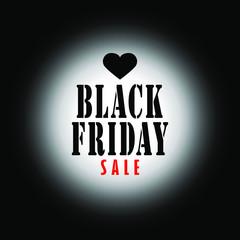Black Friday sale banner design label on black background. Vector illustration