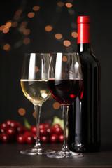 ワイン Red and white wine image
