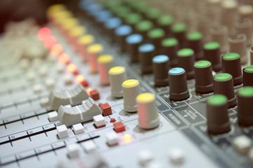 mixer in broadcast room