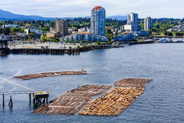 Nanaimo BC with Logging