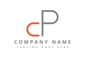 logo letter c and p flat line