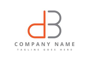 logo letter d and b flat line