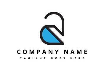 logo letter a flat line