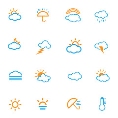 Weather icon color set