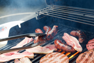 Barbecue close up