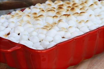 Sweet Potato Casserole with Mini Marshmallows