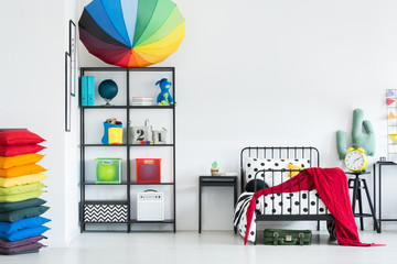 Rainbow cozy kid's bedroom