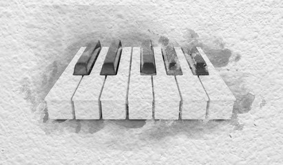 Piano Keys on the Paper
