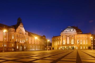Chemnitz König Albert Museum und Opernhaus am Theaterplatz